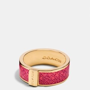 Pink coach ring